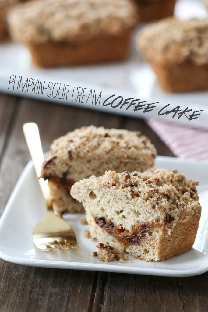 Pumpkin-Sour Cream Coffee Cake | i am INSPIRED BY YOU | Pinterest