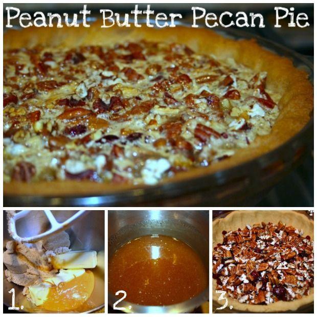 Peanut Butter Pecan Pie | sweets | Pinterest