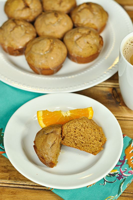 Good Thymes and Good Food: Glazed Gingerbread Doughnut Muffins