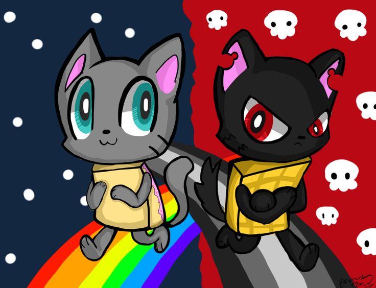 Nyan Cat Vs Pikachu Fanart