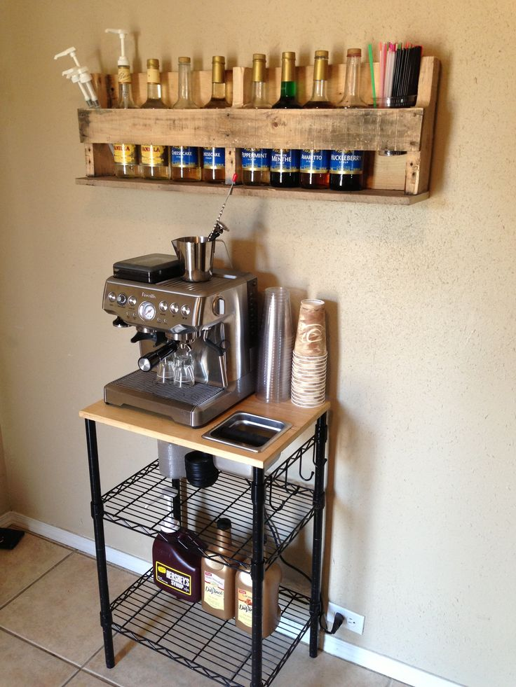 coffee bar with pallet shelf i want a coffee bar