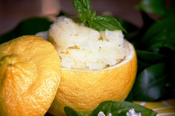Grapefruit Basil Sorbet Recipe — Dishmaps