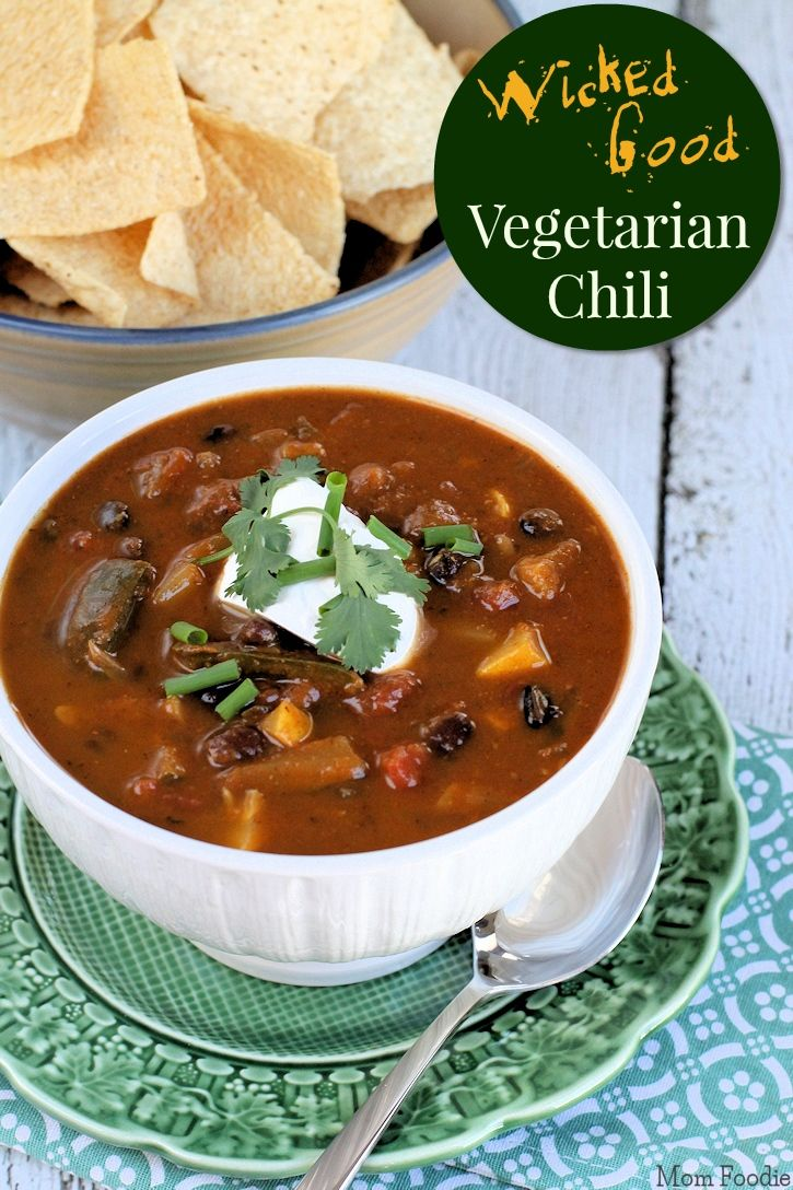 Wicked Good Vegetarian Chili (Spicy, vegan, grain-free & 113 calories ...