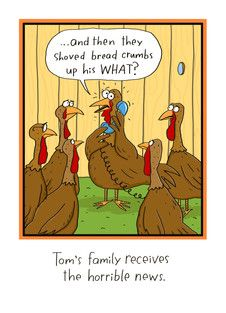 thanksgiving comic, turkey stuffing, turkey bread crumbs funny