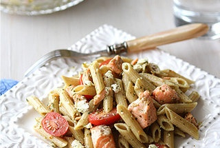 whole wheat pasta salad with salmon tomatoes amp herb dressing recipe ...