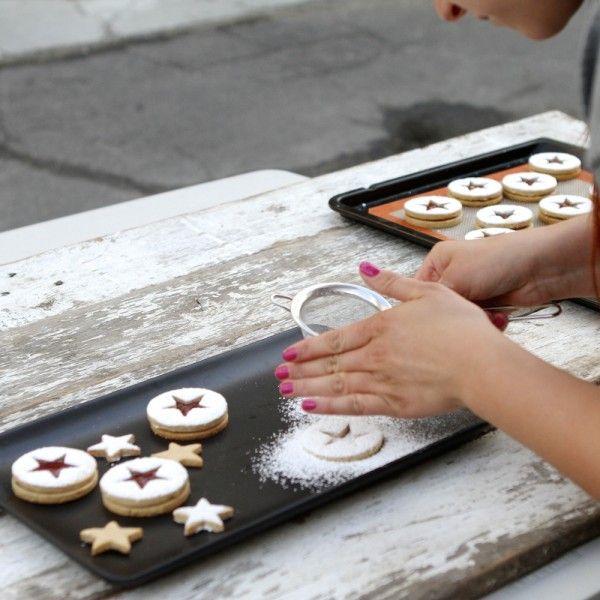 Peanut Butter & Jelly Linzer Cookie - Cinema & Spice