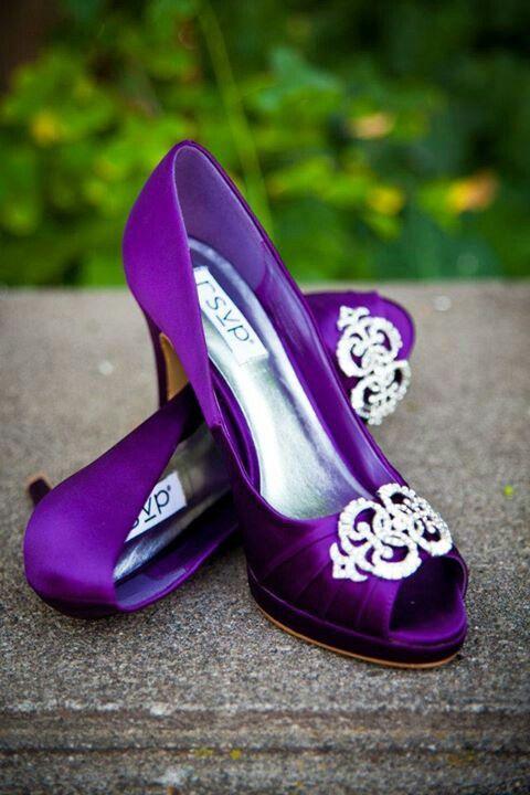 My Purple Wedding Shoes