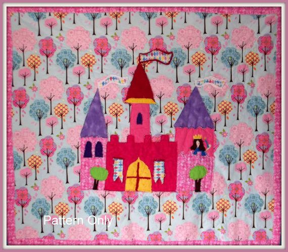 Princess Evelyns Castle Quilt Pattern Fast and by marylandquilter Princess Quilt Patterns Free