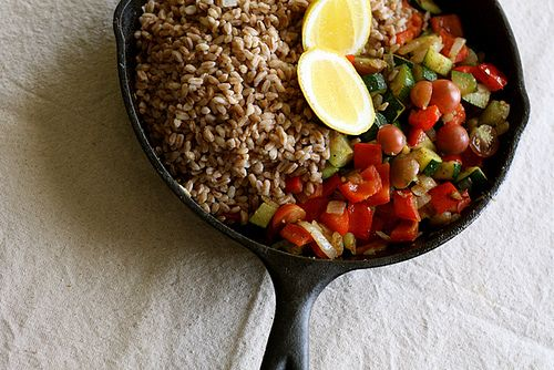 """sounding farro and vegetable recipe I found by searching about """"farro ..."""