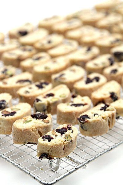 Biscotti with salted pistachios and kirsch-soaked dried cherries ...