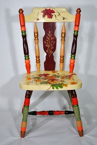 Painted chair chairs pinterest for Painted kitchen chairs