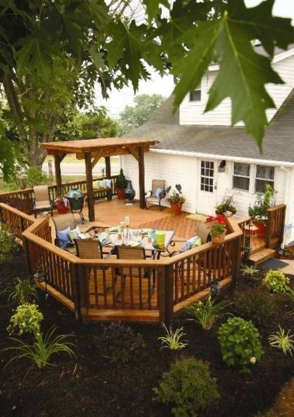 Elevated deck plans free garden hardscaping pinterest for Free elevated deck plans