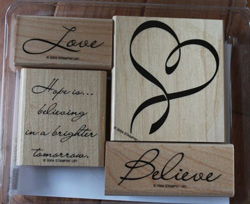 Stampin up hope is retired rubber stamp set
