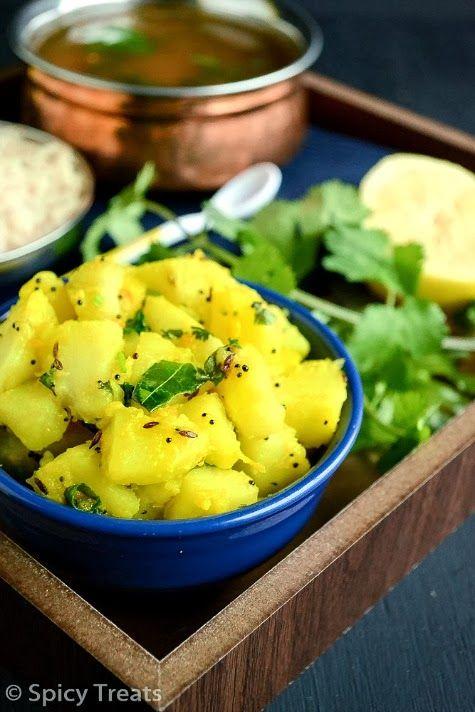 Spicy Treats: Bhatate Bhaaji / Dry Aloo Sabzi - No Onion No Garlic ...