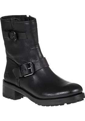 Tory Burch - Chrystie Moto Boot Black Leather - Jildor Shoes
