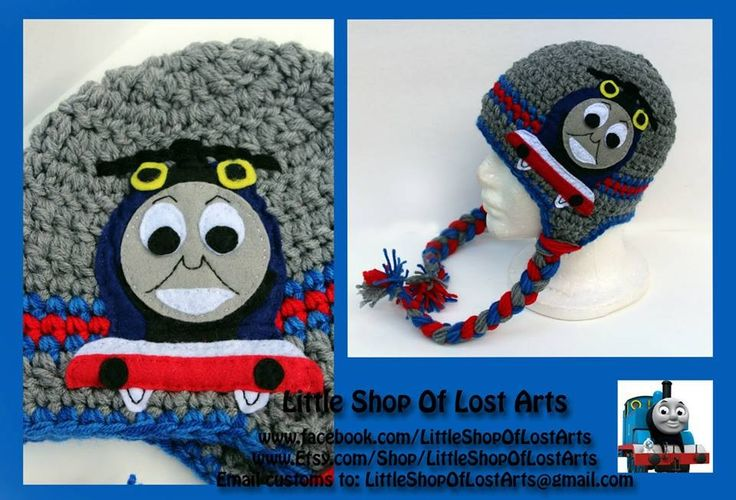 Free Crochet Hat Pattern For Thomas The Train : Thomas the train crochet hat Crocheting! Pinterest