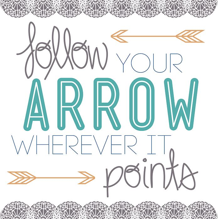 Follow Your Arrow Typography by yellowharbor on Etsy, $4.00