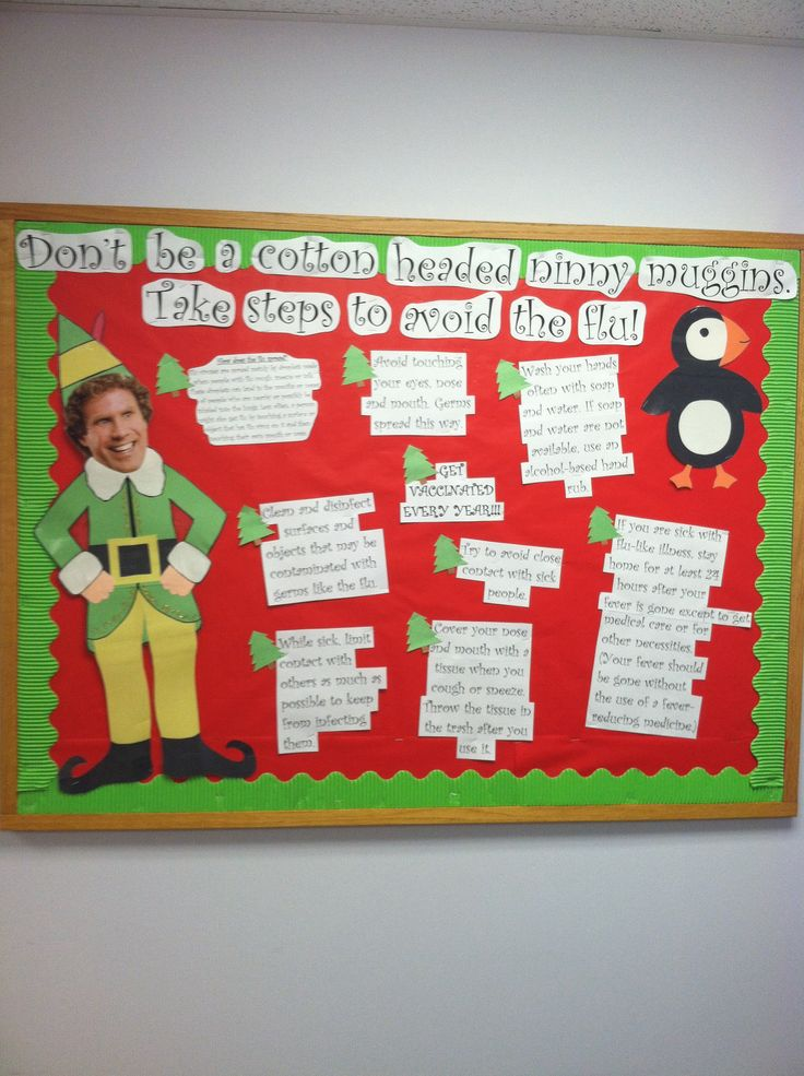 Elf bulletin board quot don t be a cotton headed ninny muggins take