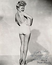Betty Grable born in St Louis.
