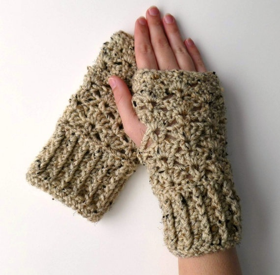 Crocheting With Your Hands : Wonderful, warm hobo gloves I use all the time at the office.