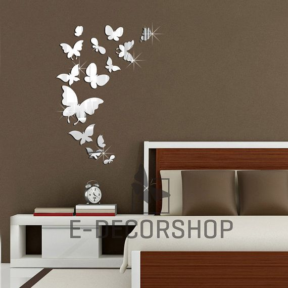 Acrylic Butterfly Shaped For Mirror Mirrors Roomu0026#39;s by EDecorShop, $35 ...