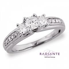 Riddle's Jewelry Large Image of Three-Stone Radiante Wedding Ring ...
