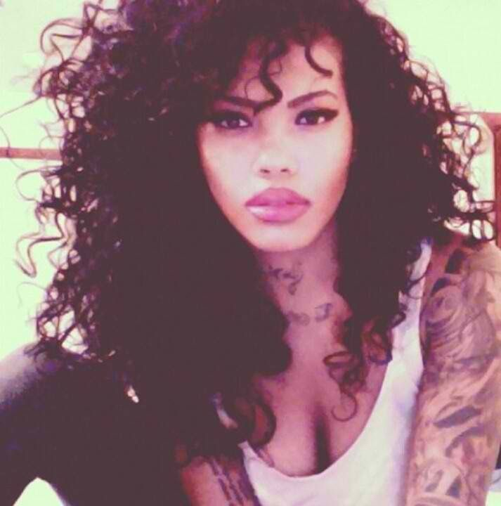 curly hair tattoos big hair don 39 t care pinterest