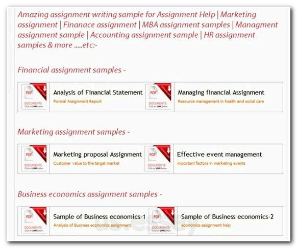 Buy business assignment sample