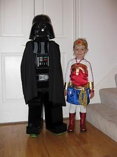 Lego Darth Vader  amp  Wonder Woman costumesWonder Woman Lego Costume