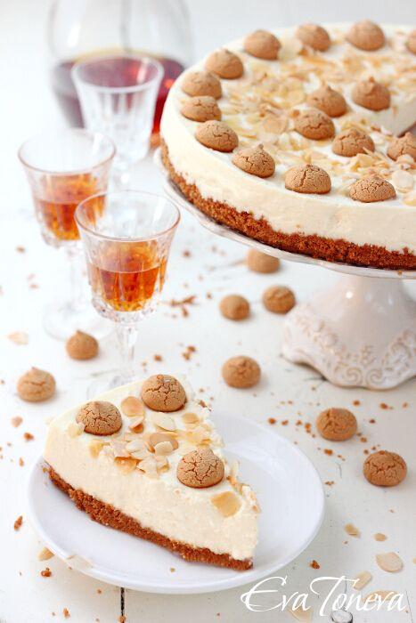 Amaretto Cheesecake | YUM Cheesecake | Pinterest