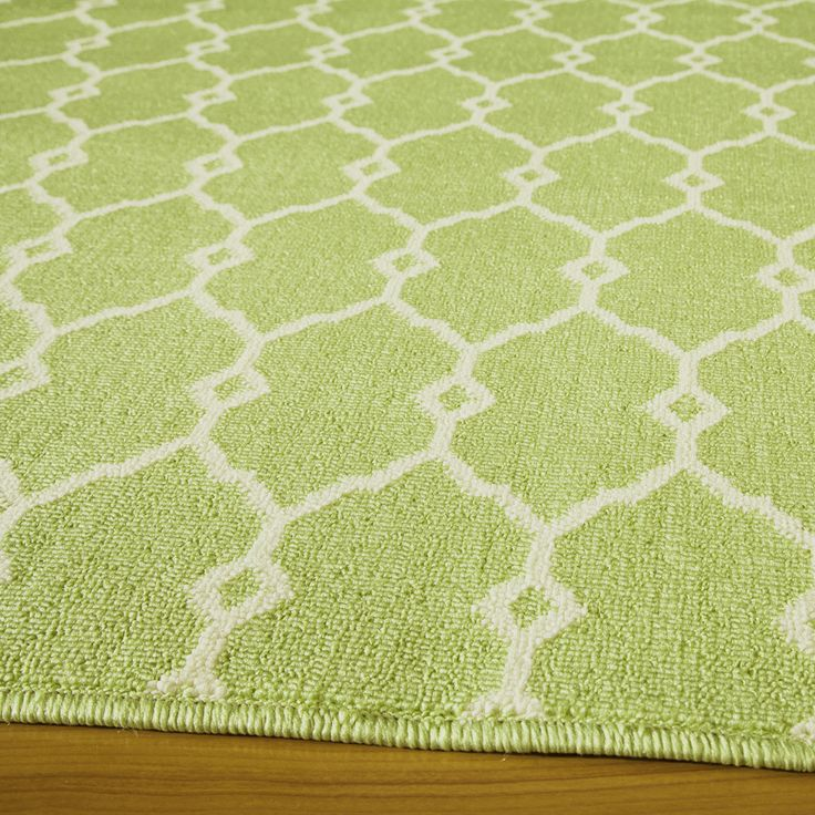 Indoor Outdoor Green Trellis Rug 7 10 x 10 10