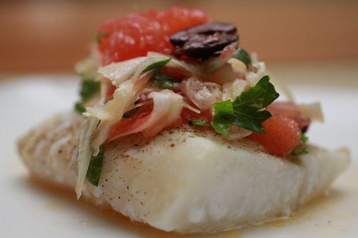 Roasted Cod with Grapefruit Fennel Salsa | WeeklyGreens.com