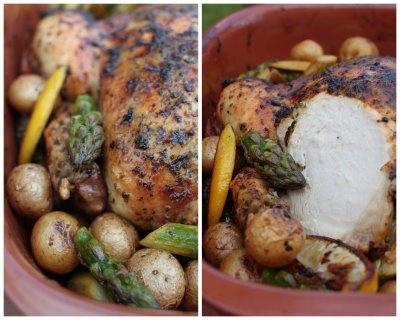 lemon and oregano rubbed roast chicken | dinner | Pinterest