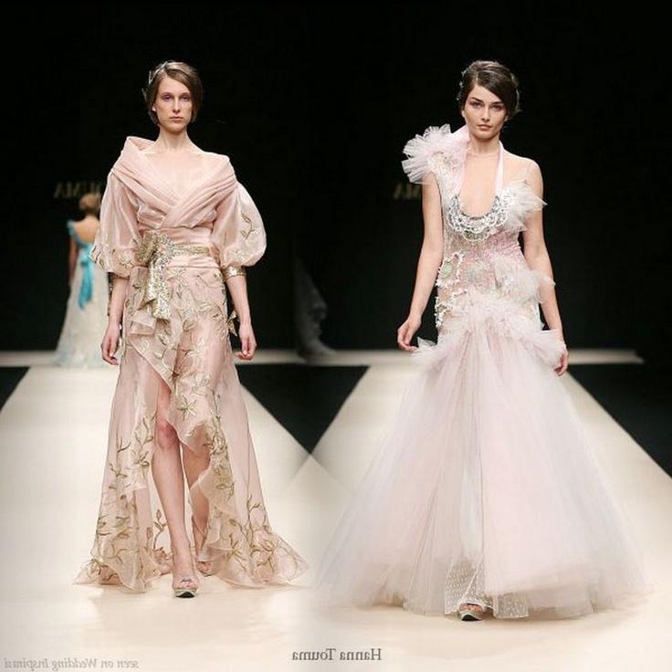 hanna touma wedding dresses collections 2012 latest
