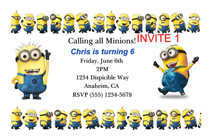 Minions Birthday Invitation DIY Printable by WineCorksNMore, $6.00