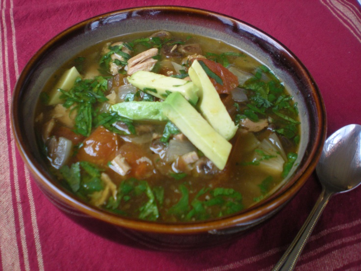 Green Chile Chicken & Lime Soup | Perfectly Paleo! | Pinterest