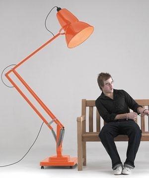 Anglepoise giant 1227 floor lamp red orange pinterest - Giant anglepoise lamp ...