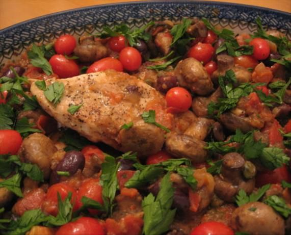 Chicken, Mushrooms, And Tomatoes With Port Wine Recipe ...