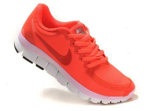 Cheap Nike Free 5.0 V4 Womens Running Shoe Total Orange Sale