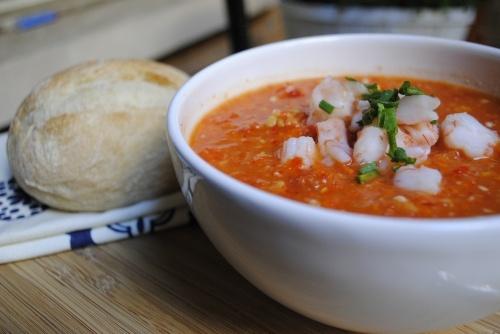 Shrimp Gazpacho / Fifth Floor Kitchen | Ethnic Foods Etc. | Pinterest