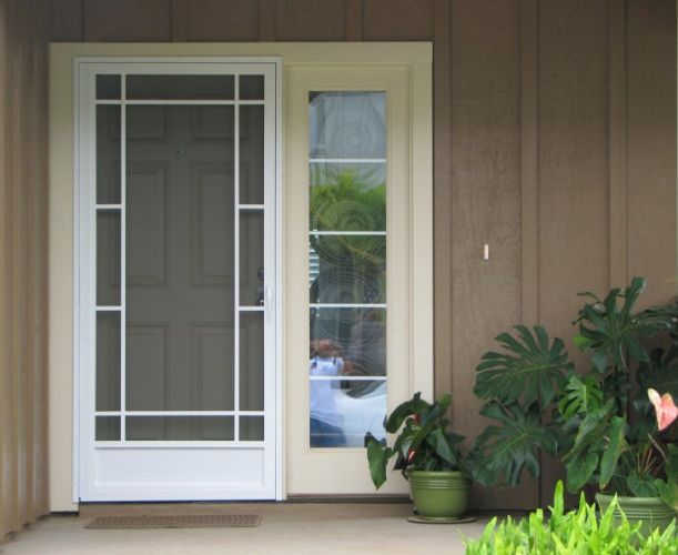 Aluminum Screen Door Home Depot Exterior Pinterest