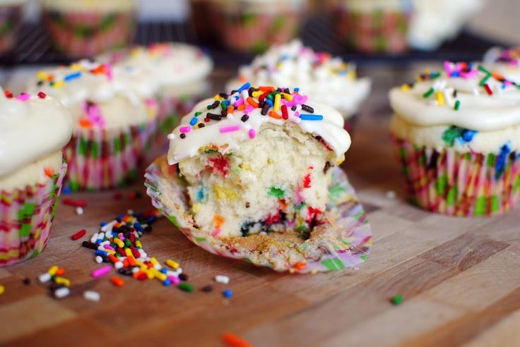 Simply Scratch » Homemade Funfetti Cupcakes