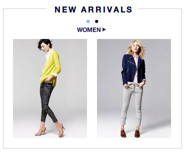 new arrivals homepage box