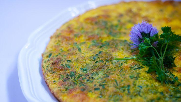 Herb-y frittata mmm | Food | Pinterest