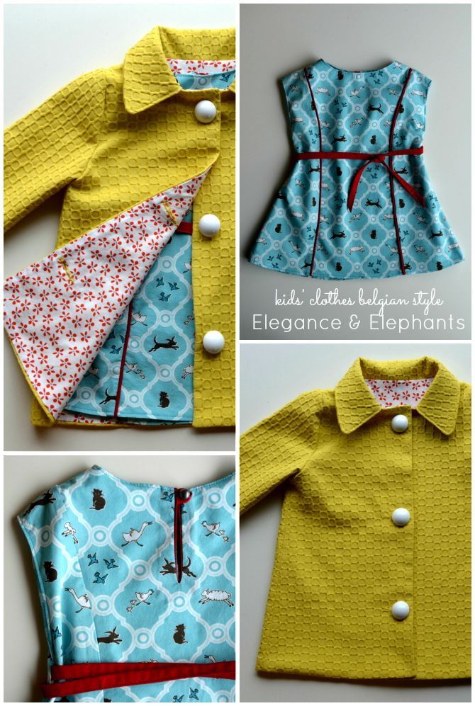 StraightGrain. A blog about sewing: Kids Clothes Belgian Style: Elegance and Elephants