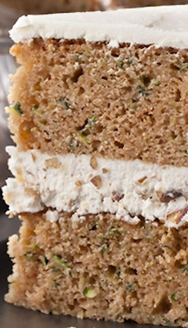 Zucchini Layer Cake With Tangy Buttercream Frosting Recipe ...