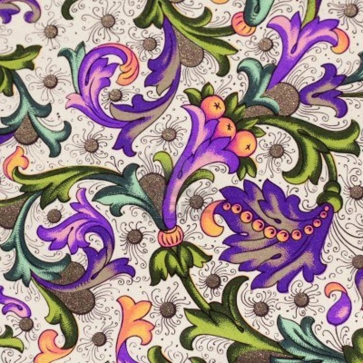 filigrana floreale carta decorativa  Archivio Fotografico - 8607076