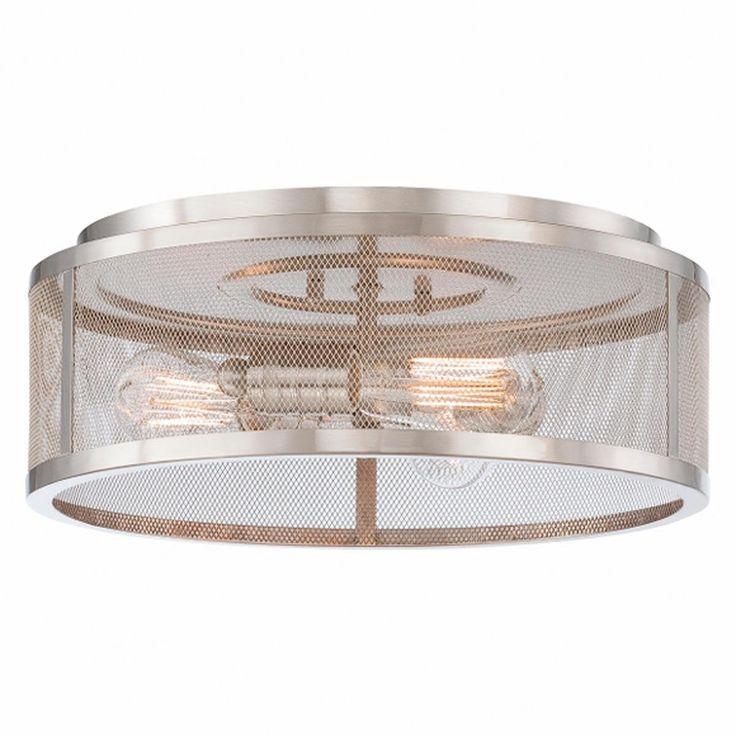 mesh industrial flush mount ceiling light