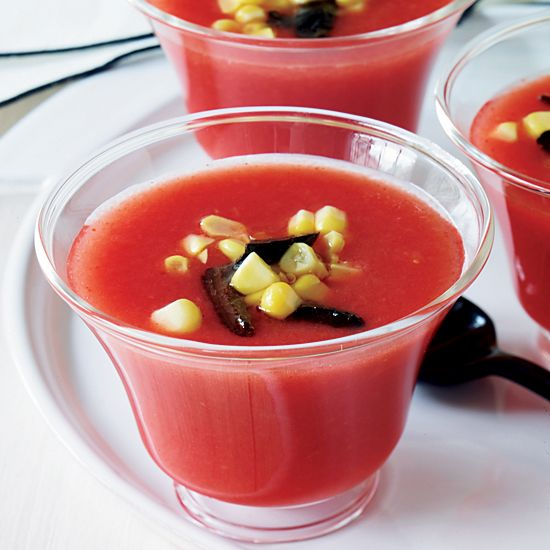 Soup | Combining fresh tomato juice and orange juice, this cold soup ...