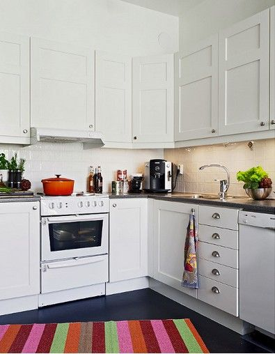 White cabinets with white appliances for the home pinterest